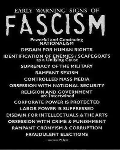 Lawrence Britt's 14 Threads of Fascism